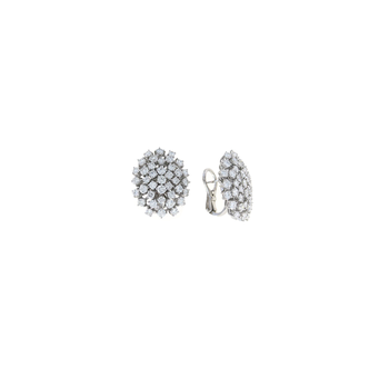 18Kt Gold Diamond Cluster Earrings