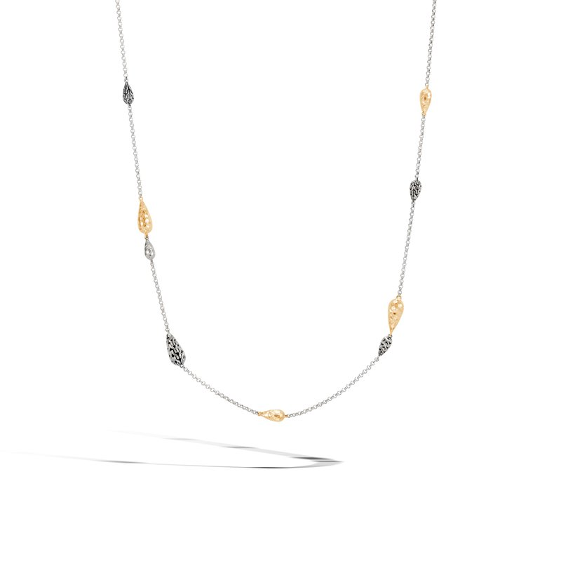 JOHN HARDY Classic Chain Long Necklace, Silver and Hammered 18K Gold