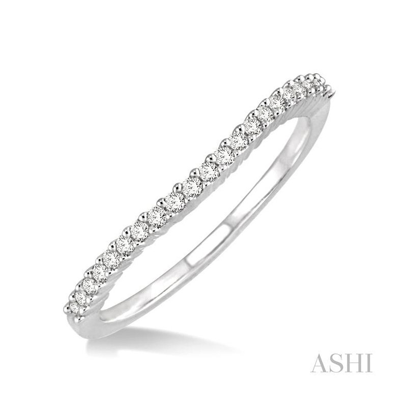 ASHI diamond curved wedding band
