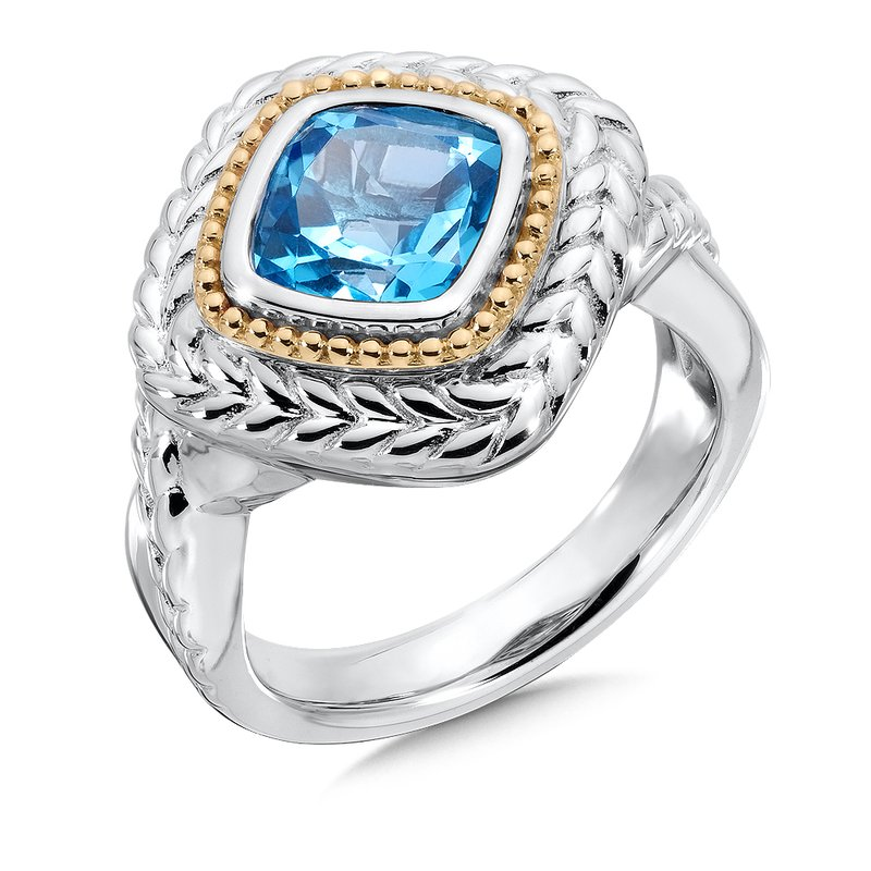 Colore Sg Sterling Silver Swiss Blue Topaz Ring