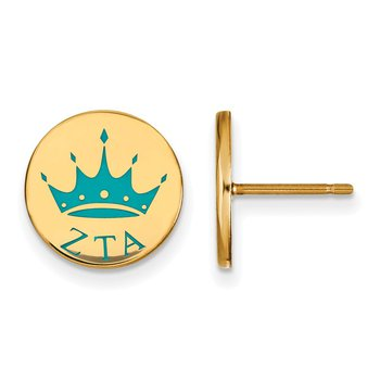 Gold-Plated Sterling Silver Zeta Tau Alpha Greek Life Earrings