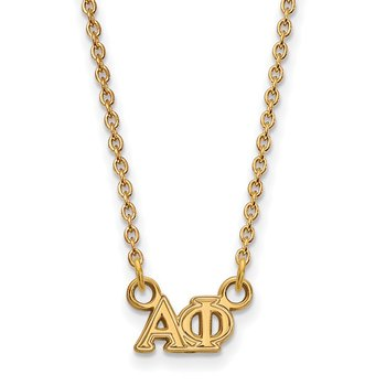 Gold-Plated Sterling Silver Alpha Phi Greek Life Necklace