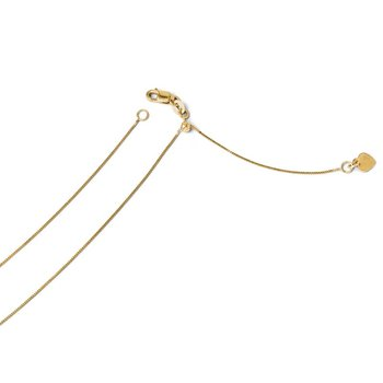Leslie's 14k Adjustable .50mm Baby Box Chain