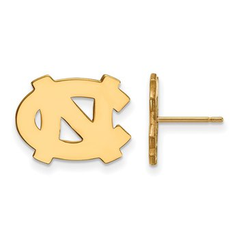 Gold-Plated Sterling Silver University of North Carolina NCAA Earrings