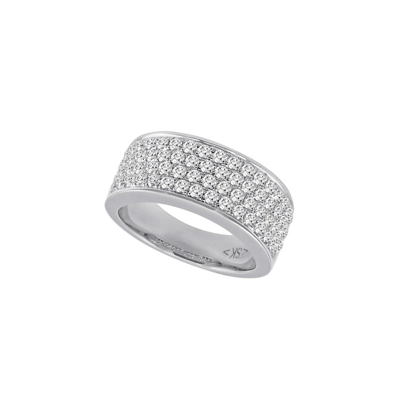S. Kashi & Sons Bridal White Gold Pave Band