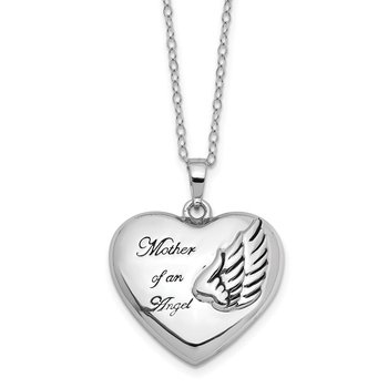 Sterling Silver Mother of an Angel Ash Holder 18in. Necklace
