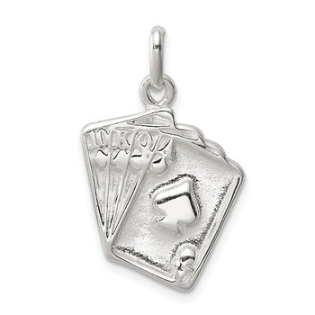 Sterling Silver Playing Card's Charm