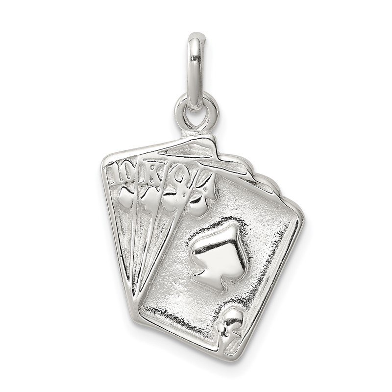 Quality Gold Sterling Silver Playing Card's Charm