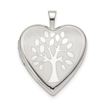 Sterling Silver 20mm Tree Heart Locket