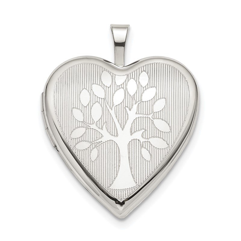 Quality Gold Sterling Silver 20mm Tree Heart Locket