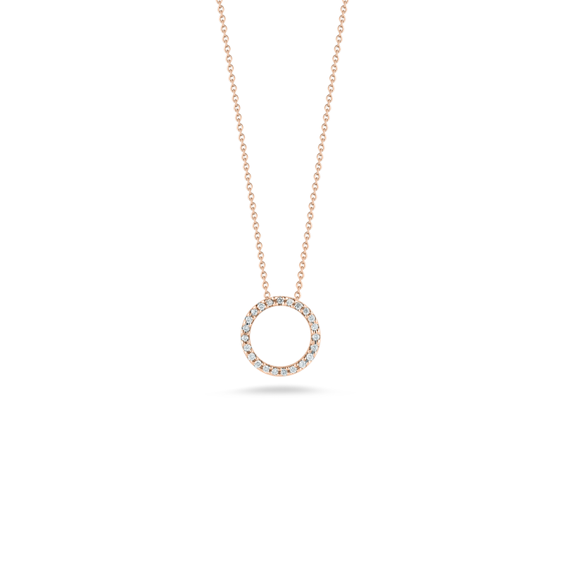 Roberto Coin 18KT GOLD CIRCLE PENDANT WITH DIAMONDS