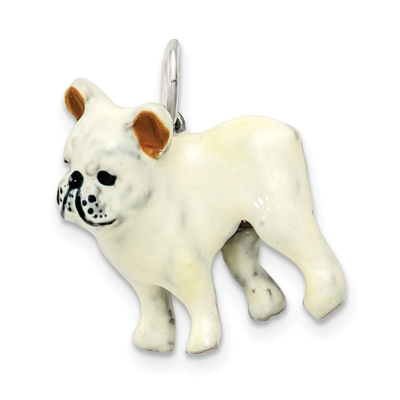 Quality Gold Silver Enamel French Bulldog
