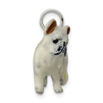 Silver Enamel French Bulldog
