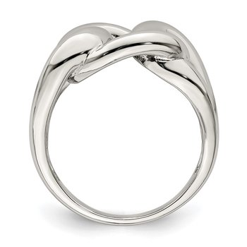 Sterling Silver Linked Knot Ring