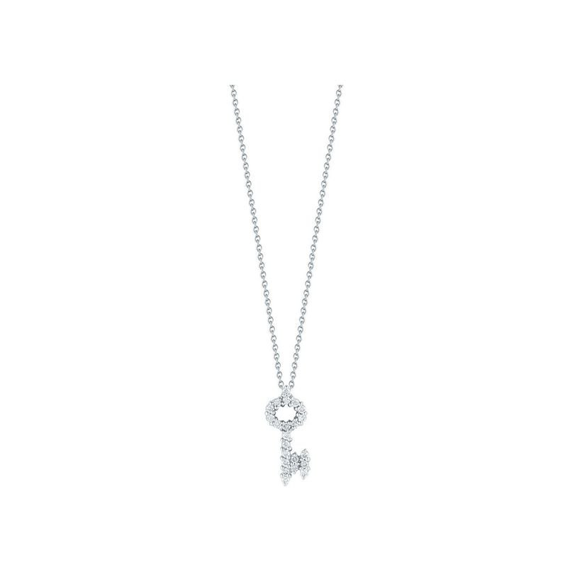 Roberto Coin 18KT GOLD KEY PENDANT WITH DIAMONDS