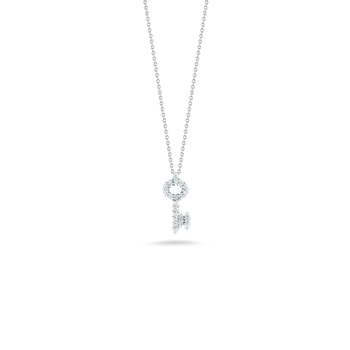 18KT GOLD KEY PENDANT WITH DIAMONDS