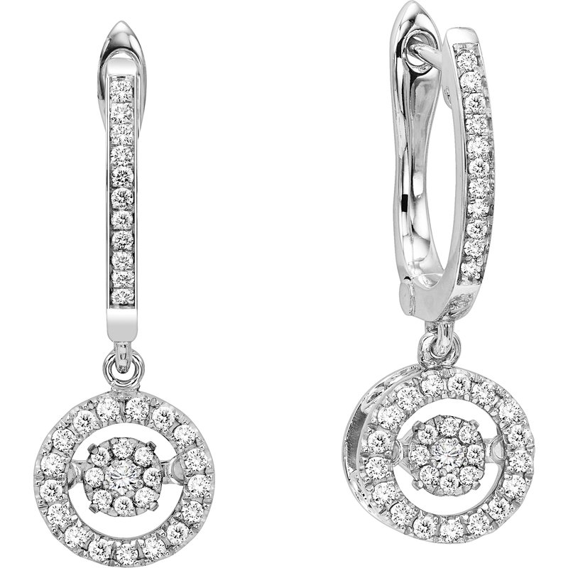 Rhythm of Love Silver Diamond Rhythm Of Love Earrings 1/10 ctw