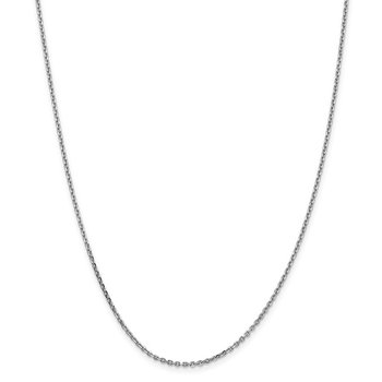 14k WG 1.65mm D/C Cable Chain Anklet