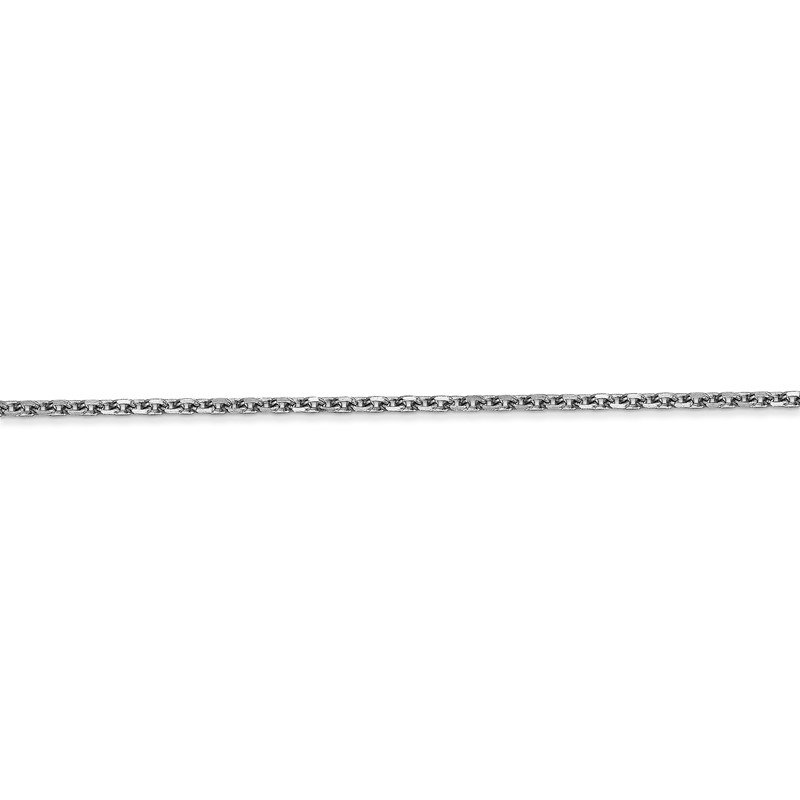 Quality Gold 14k WG 1.65mm D/C Cable Chain Anklet