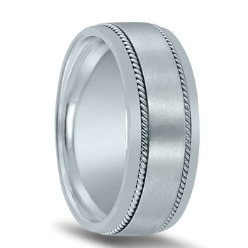 8mm Novell Wedding Band N01830 with Twists