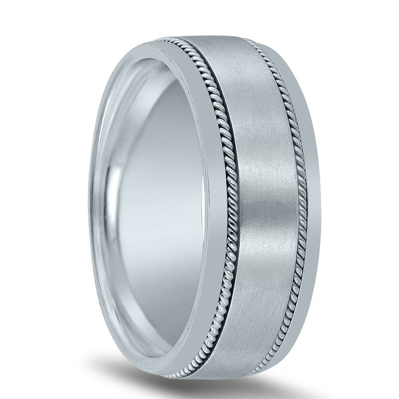 Novell  8mm Novell Wedding Band N01830 with Twists
