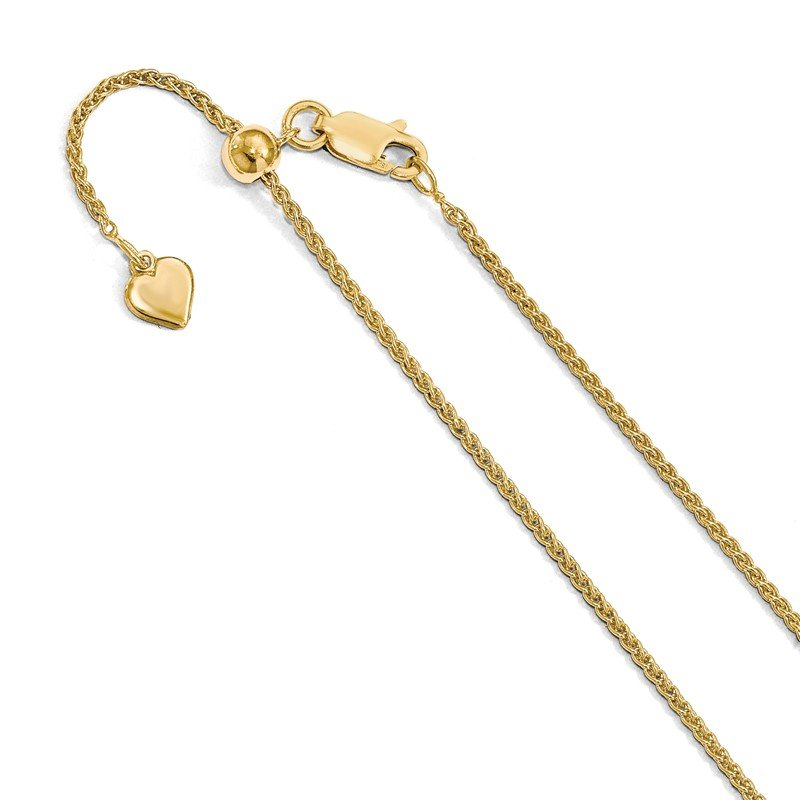 Leslie's Leslie's Sterling Silver Gold-plated Adjustable 1.5mm Spiga Chain