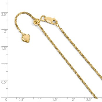 Leslie's Sterling Silver Gold-plated Adjustable 1.5mm Spiga Chain