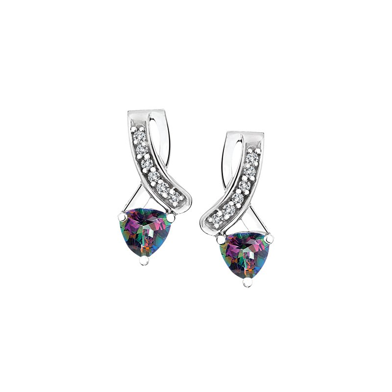 Diamond Wishes Mystic Topaz Earring
