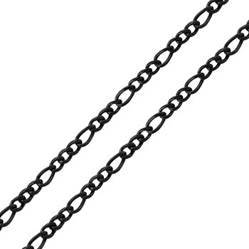 6mm Super Black Figaro Chain