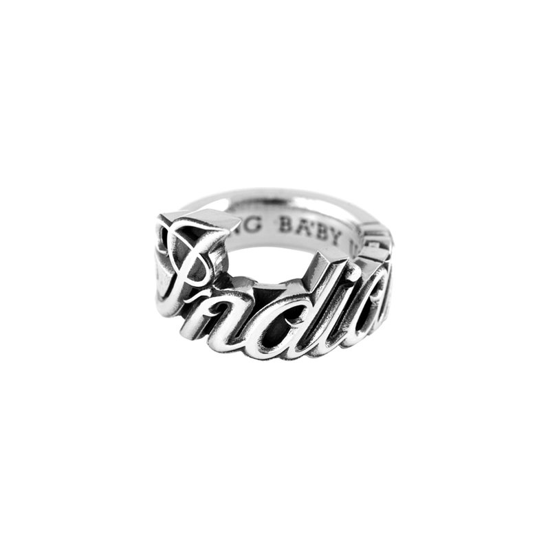 King Baby Indian Script Wrap Around Ring