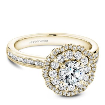 Noam Carver Floral Engagement Ring B145-16YA