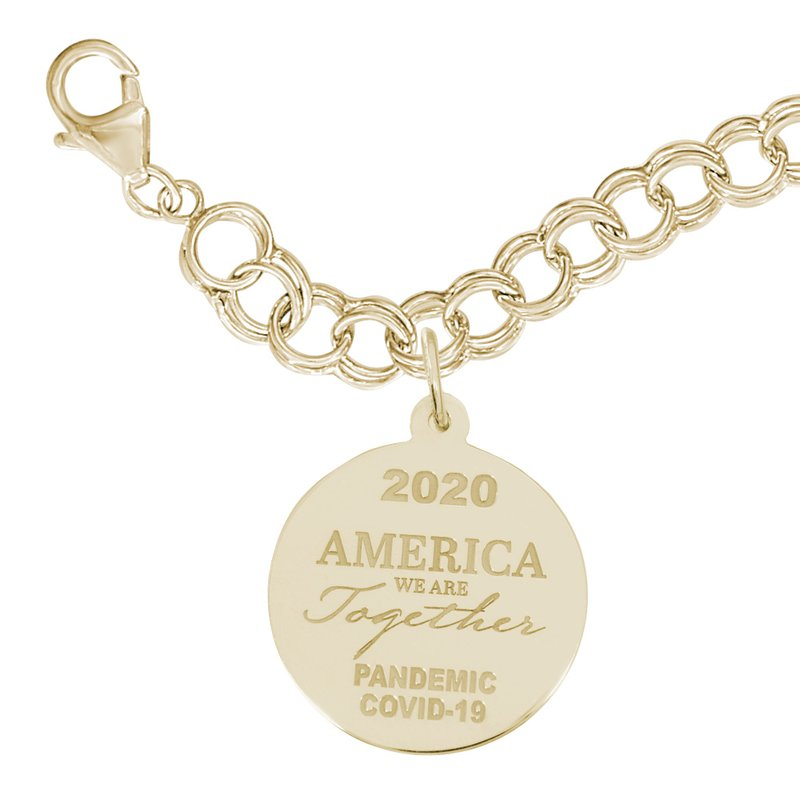 Rembrandt Charms Covid-19 America We Are Together Bracelet Set