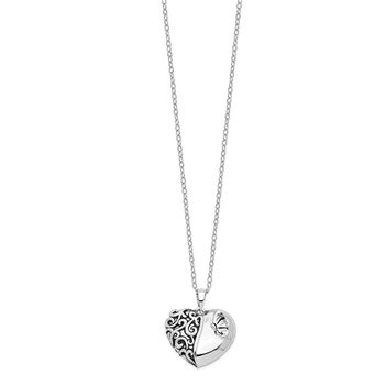 Sterling Silver Antiqued One More Day Ash Holder 18in. Necklace