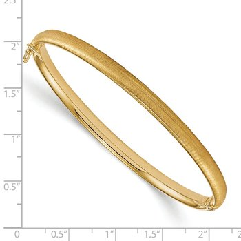 Leslie's 14K Polished and Brushed Hinged Bangle