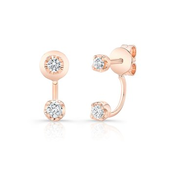 Rose Gold Double Stud Earring