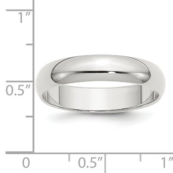 Sterling Silver 5mm Half-Round Band