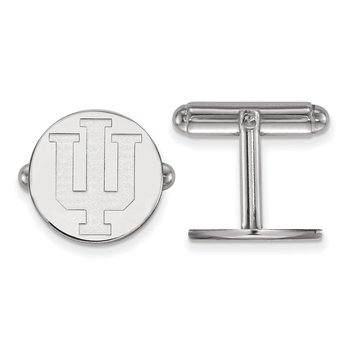 Sterling Silver Indiana University NCAA Cuff Links