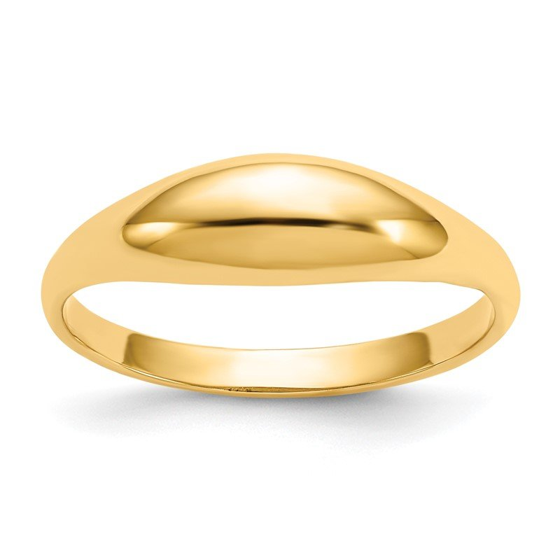 Quality Gold 14k Childs Polished Dome Ring