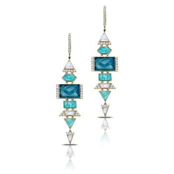 Amazon Breeze Dangle Earrings 18KY