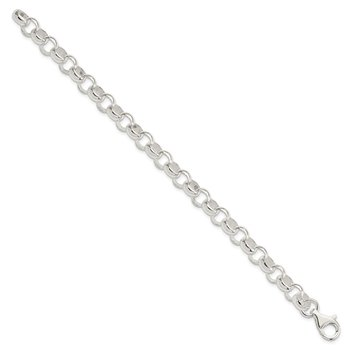 Sterling Silver 8.00mm Belcher Light Bracelet