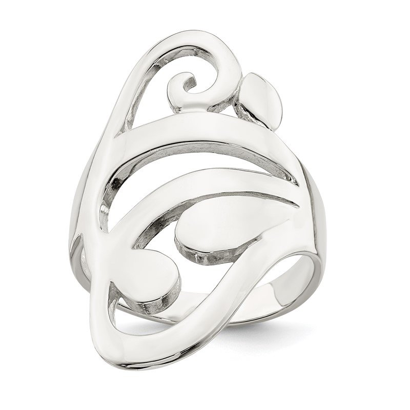 Quality Gold Sterling Silver Scroll Ring