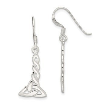 Sterling Silver Twisted Knot Dangle Earrings