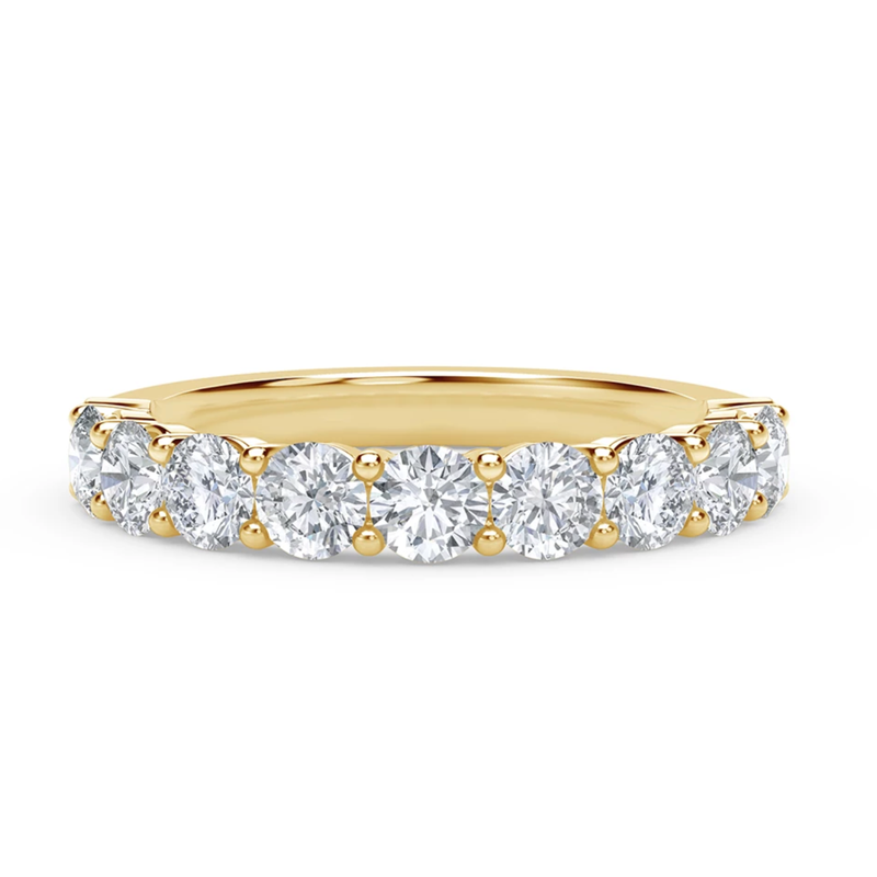 9 Stone Ladies Diamond Wedding Band