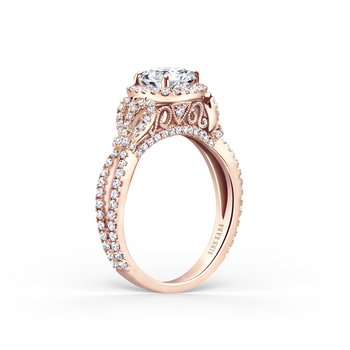 Bows Halo Diamond Engagement Ring
