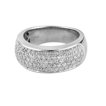 14K WG Diamond Pave Set Band