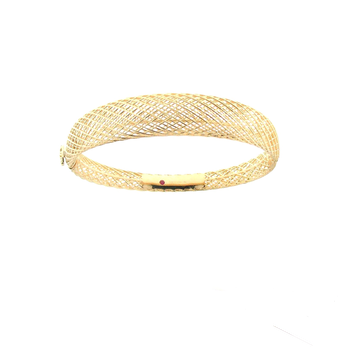 18Kt Gold Silk Dome Bangle