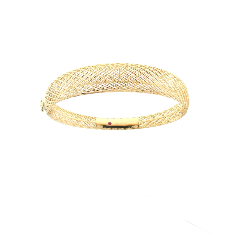 Roberto Coin 18Kt Gold Silk Dome Bangle