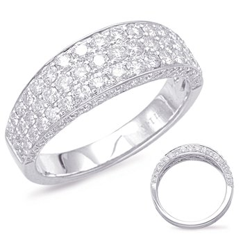 White Gold Pave Diamond Band