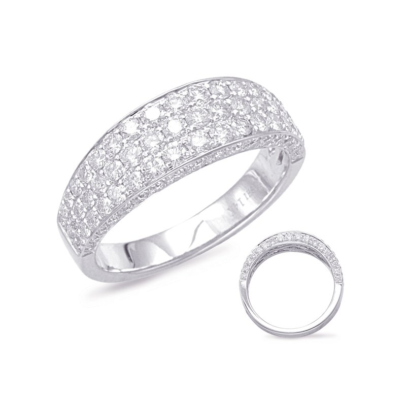 S. Kashi  & Sons White Gold Pave Diamond Band