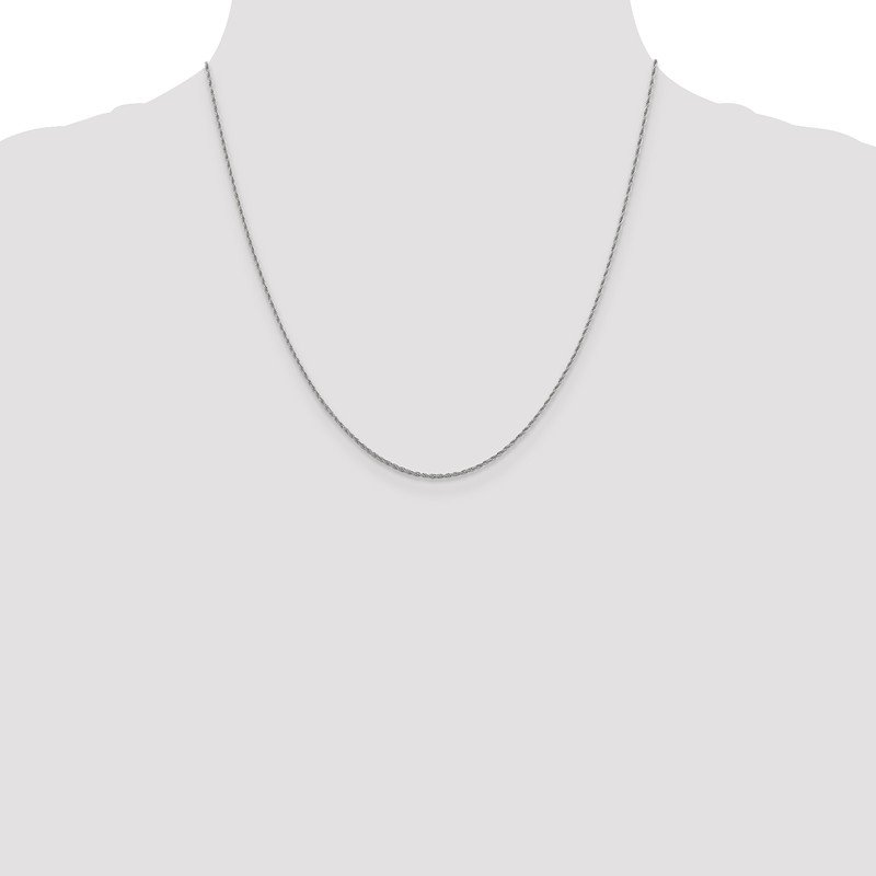 Leslie's Leslie's 10K White Gold 1.2 mm Loose Rope Chain